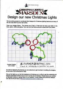 Completed Christmas Lights Example